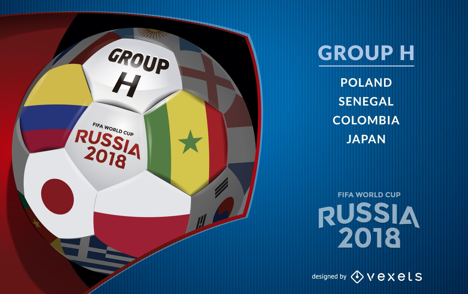 Russia 2018 Group H poster design