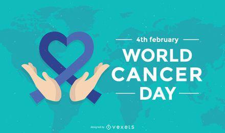 Póster del día mundial del cáncer