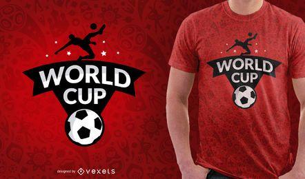 Design da t-shirt da ilustração da Copa da Rússia