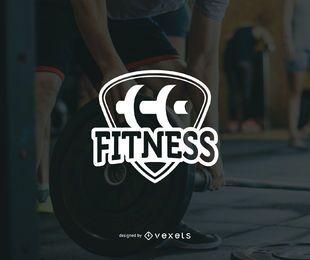 Modelo de logotipo de fitness minimalista