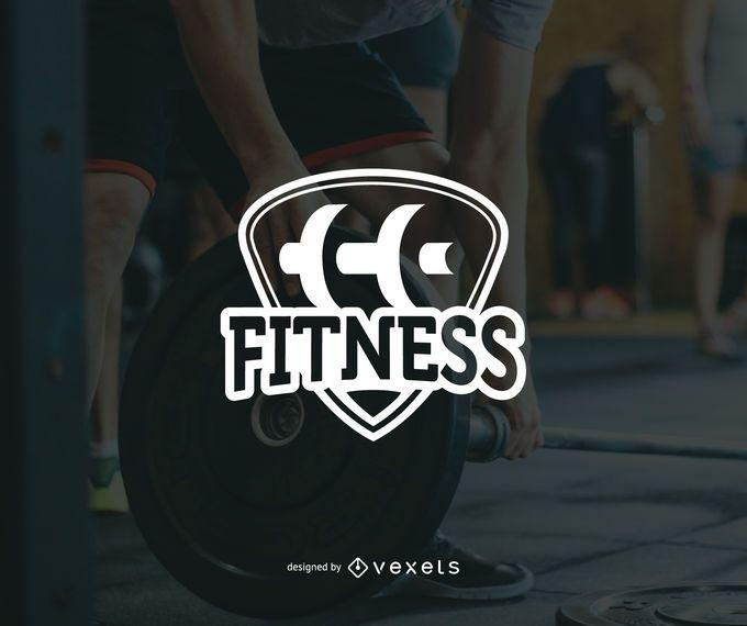 Minimalist fitness logo template