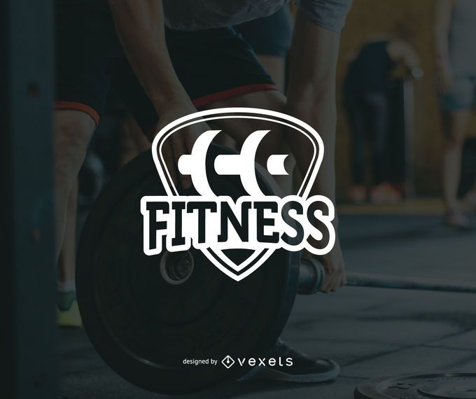 Plantilla de logotipo de fitness minimalista