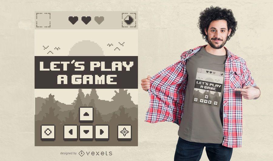 Retro game t-shirt design