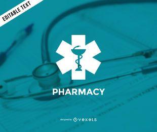 Modelo de logotipo da farmácia minimalista