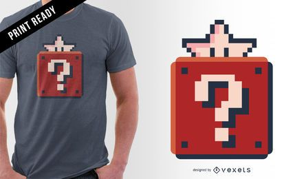 Diseño de camiseta pixel art.