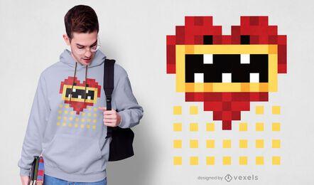Design de t-shirt pixel art