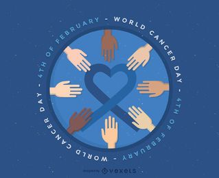World Cancer Day illustration badge