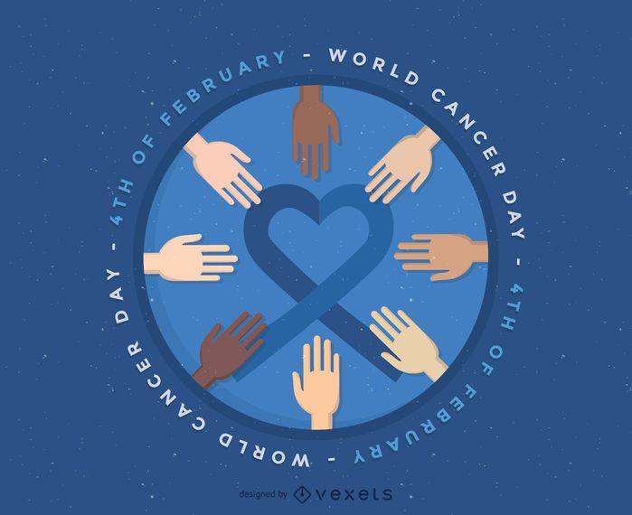 World Cancer Day illustration badge