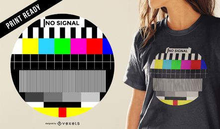 Design de t-shirt de sinal de TV