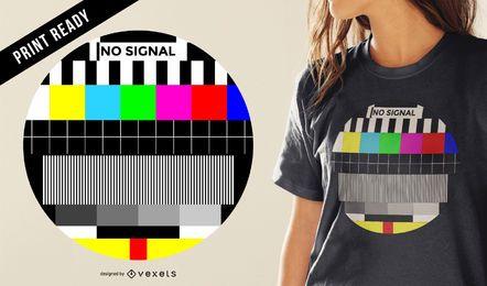 Diseño de camiseta de señal de TV.
