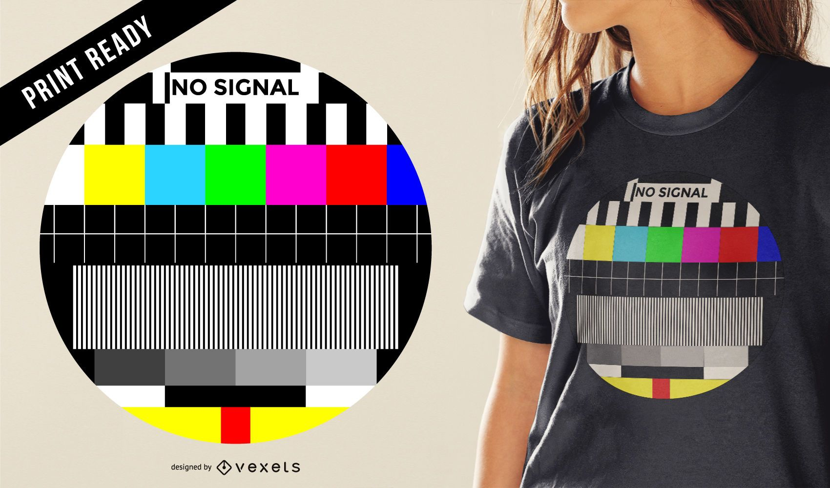 TV signal t-shirt design