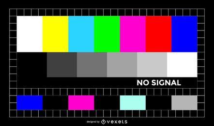 Ilustração colorida do sinal de TV
