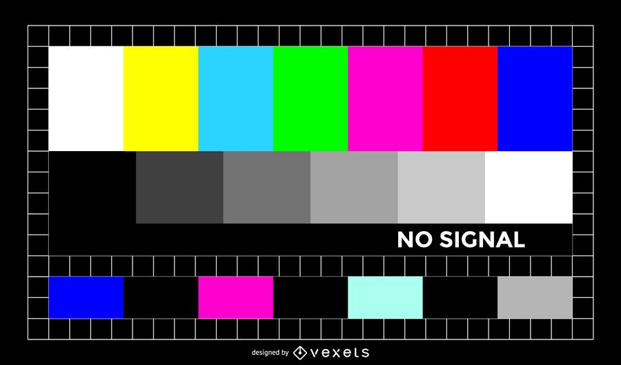 Colorful TV signal illustration
