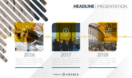 Diseño de la plantilla de la línea de tiempo de presentación