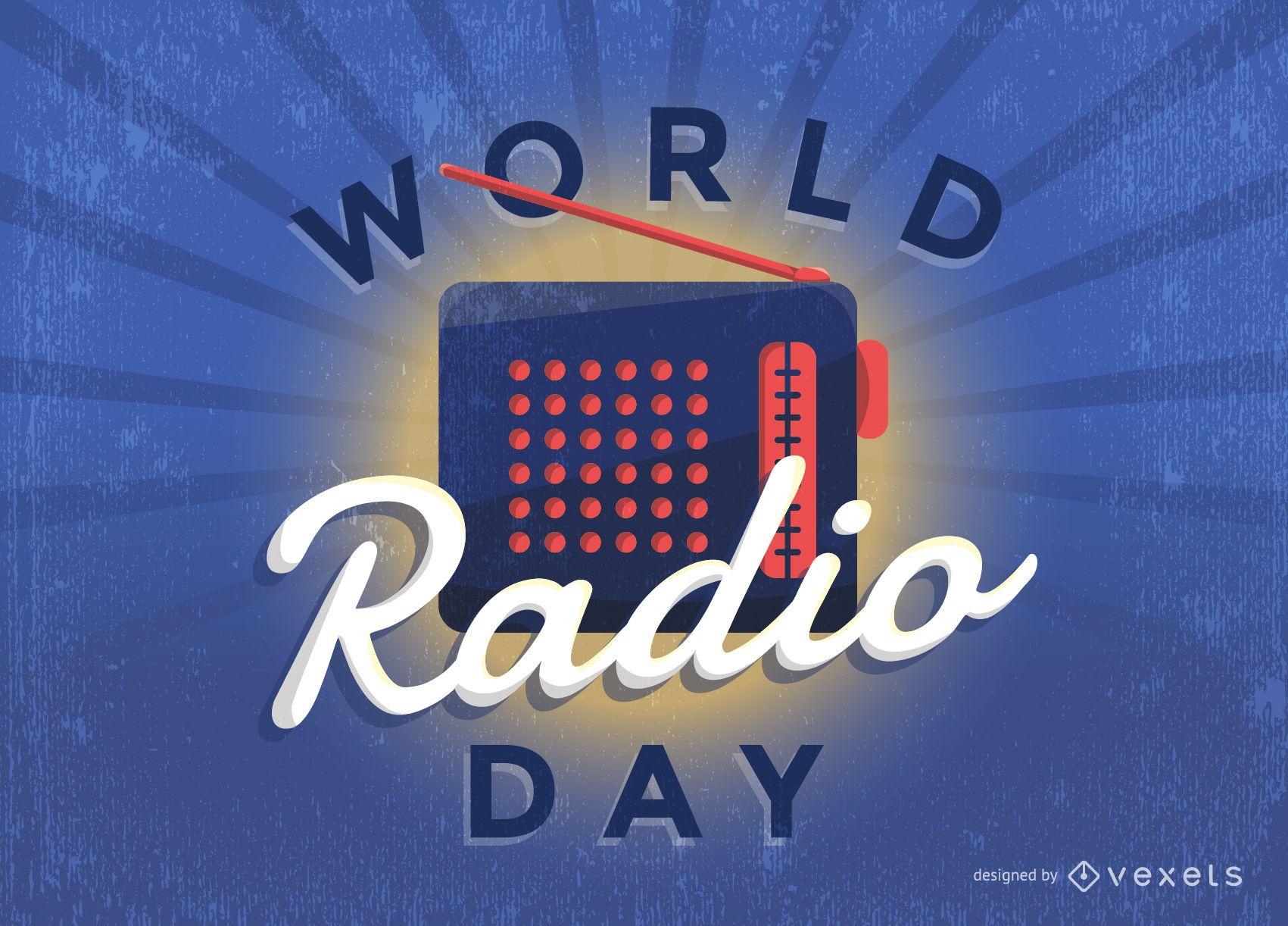 Vintage World Radio Day poster