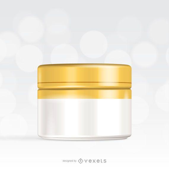 Maqueta de plantilla de embalaje crema
