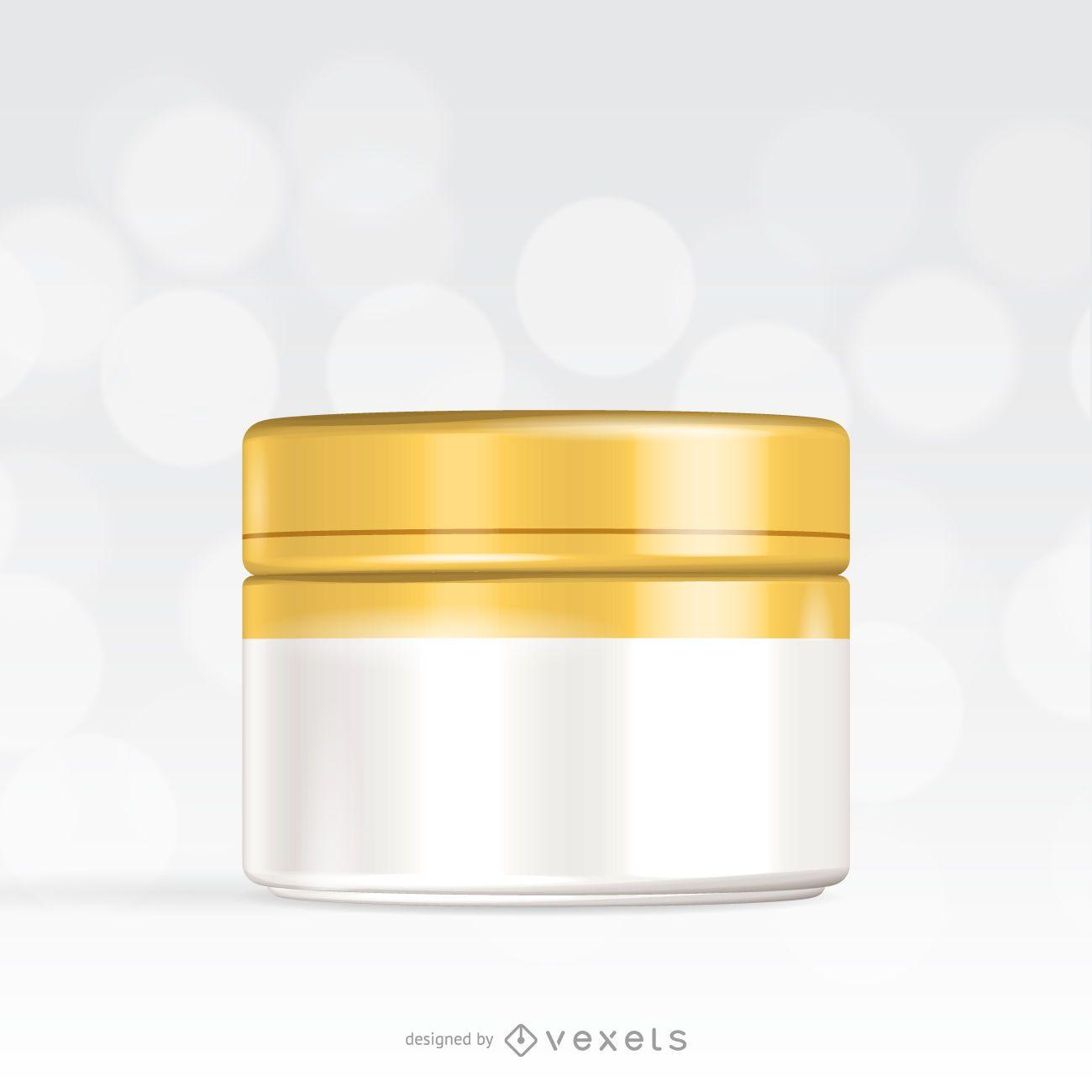 Cream packaging template mockup