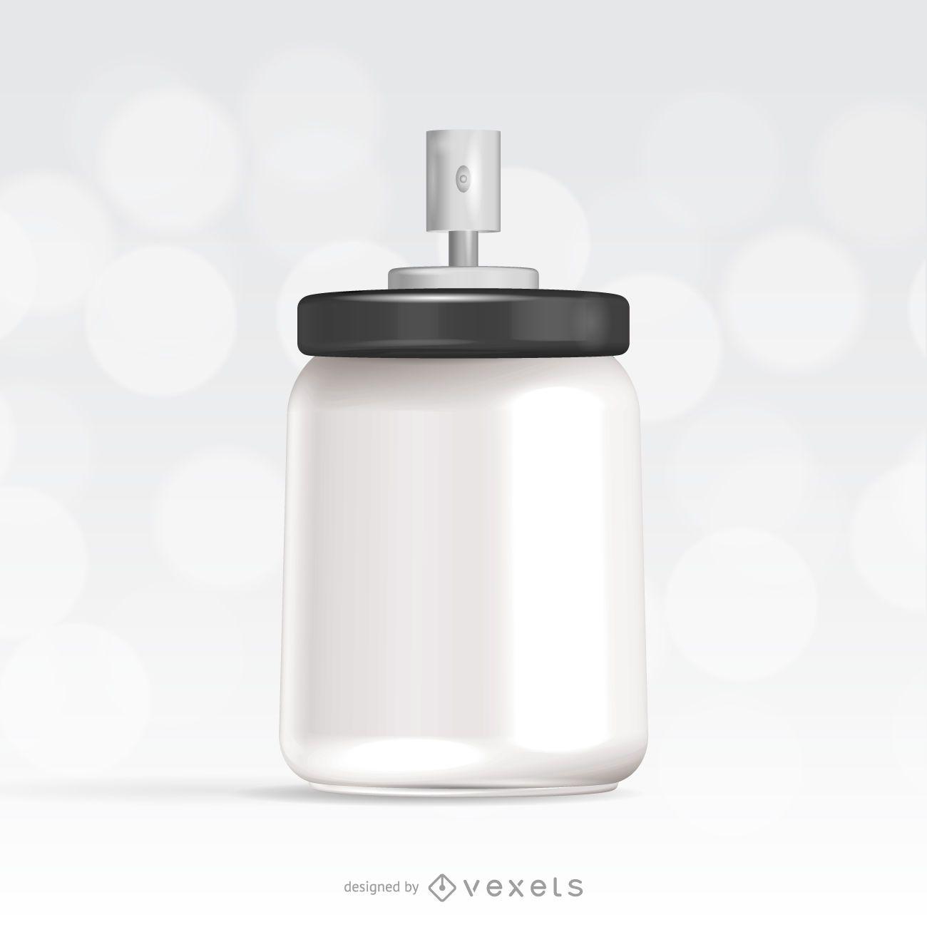Spray packaging mockup template
