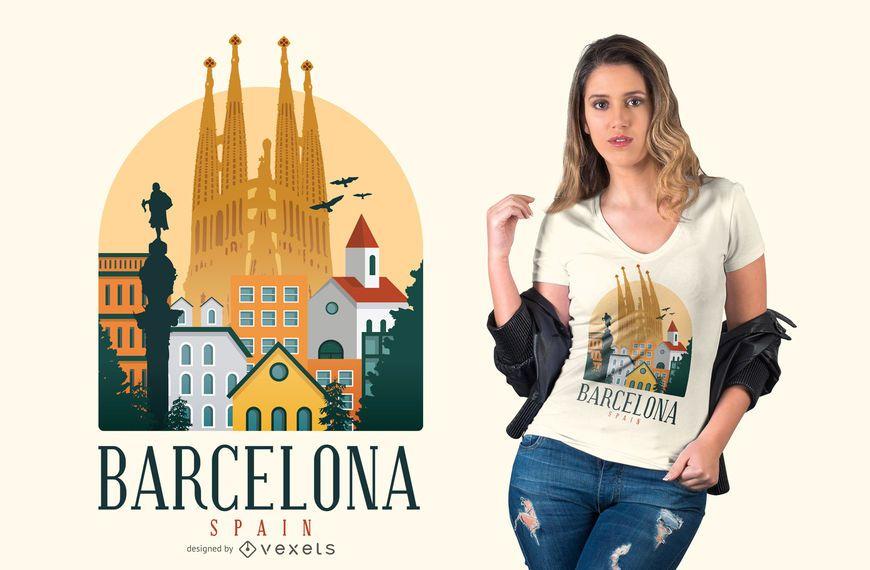 Barcelona Spain t-shirt design