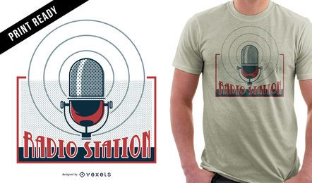 Diseño de camiseta de la estación de radio.