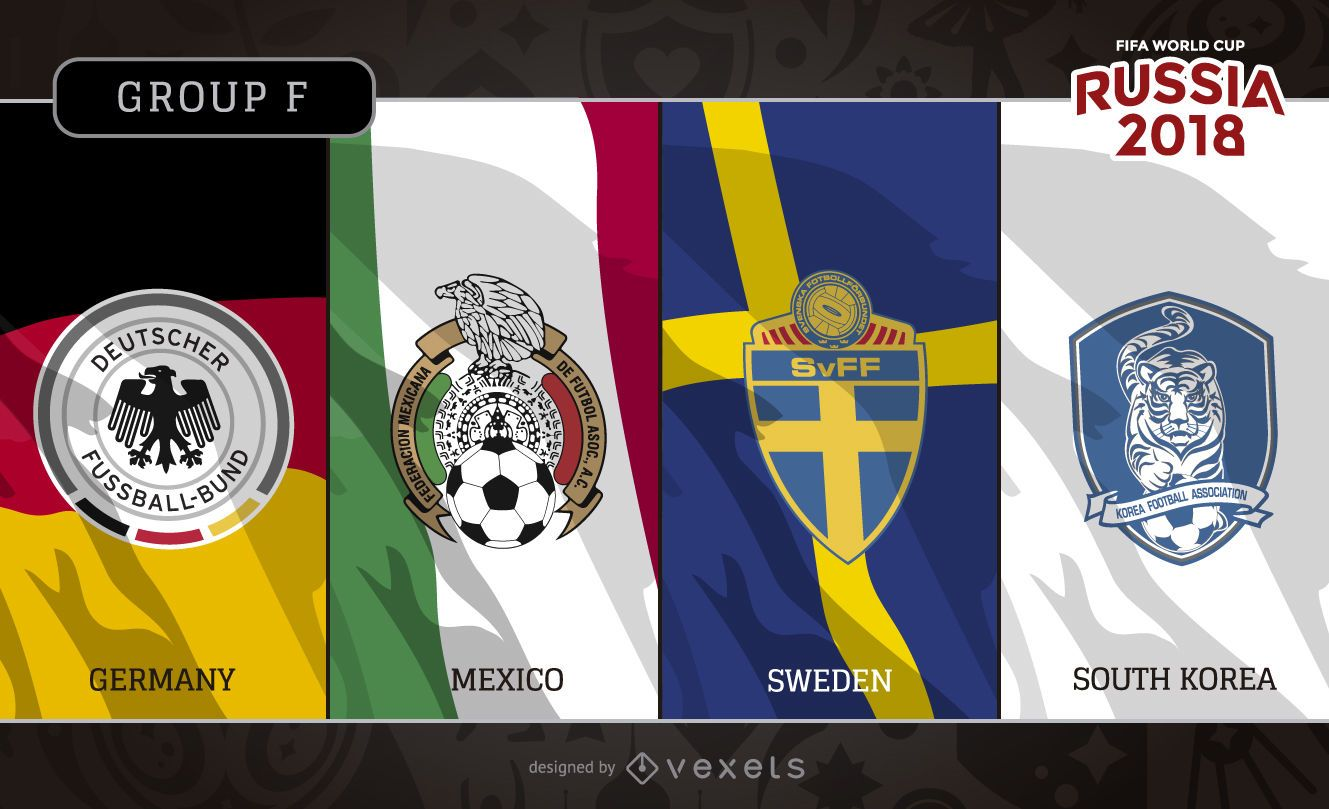 Russia 2018 Group F flags