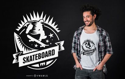 Diseño de camiseta de Skateboarding
