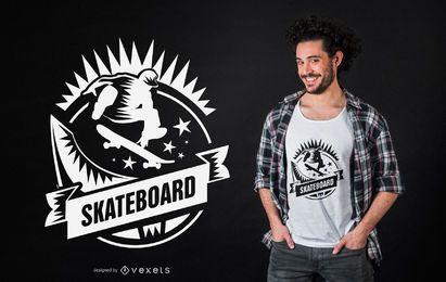 Diseño de camiseta de skateboarding.