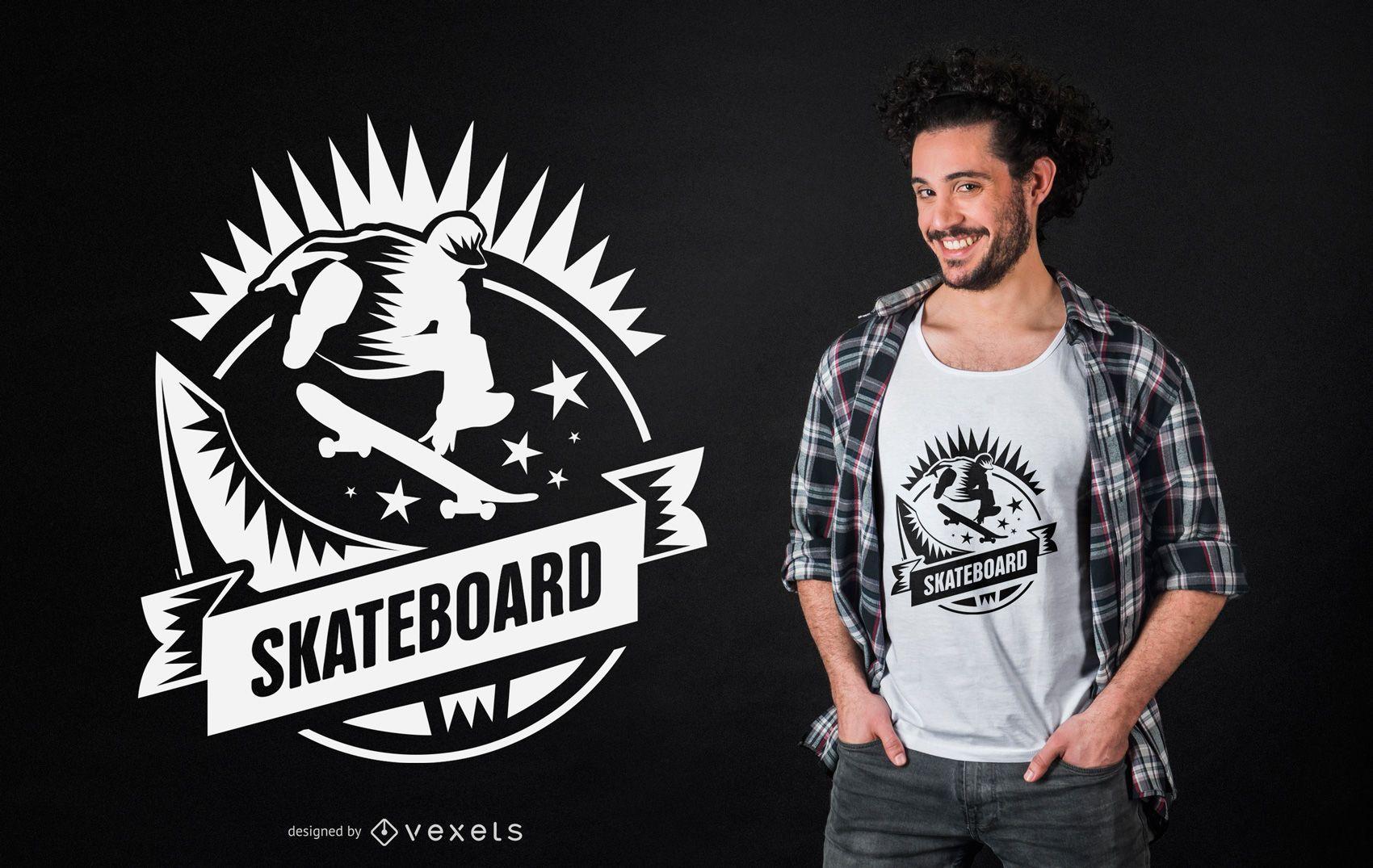 Skateboarding t-shirt design