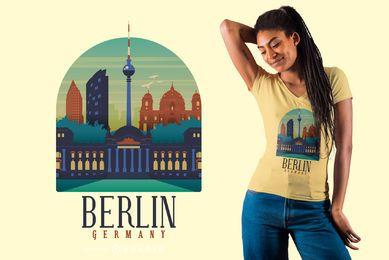 Diseño de camiseta Berlín Alemania
