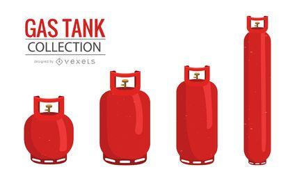 Colección de ilustración de tanque de gas