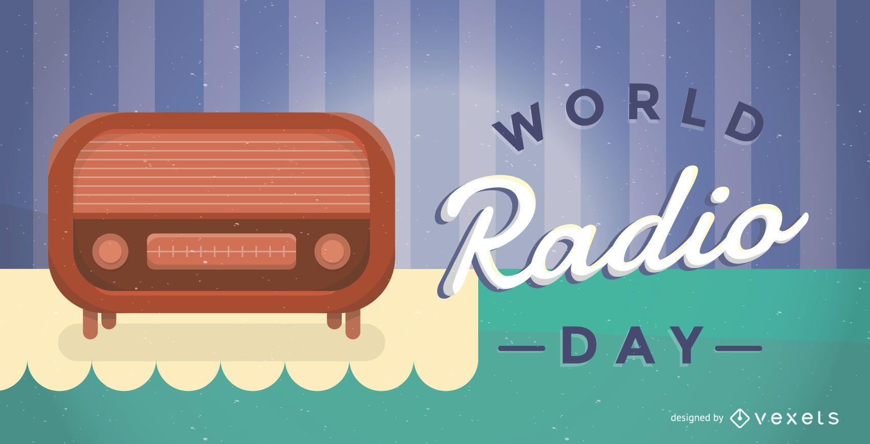 World Radio Day poster illustration