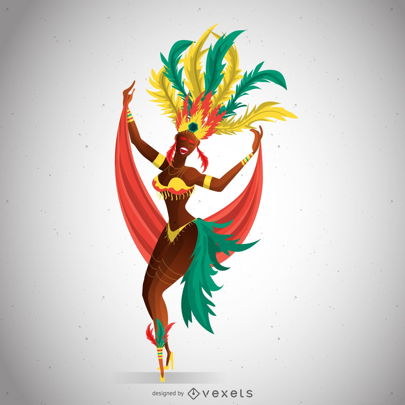 Carnival dancer with colorful costume