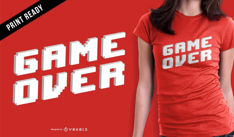 Game over t-shirt design