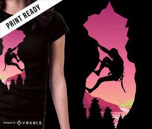 Design de t-shirt alpinismo