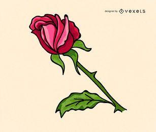 Einfache Rosenillustration