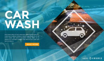 Creador de anuncios de lavado de autos