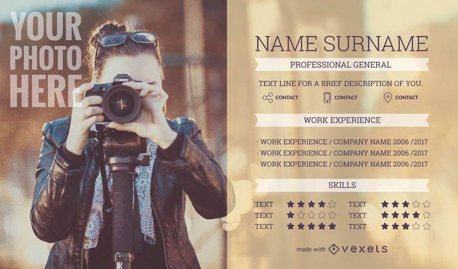 Creador de CV creativo
