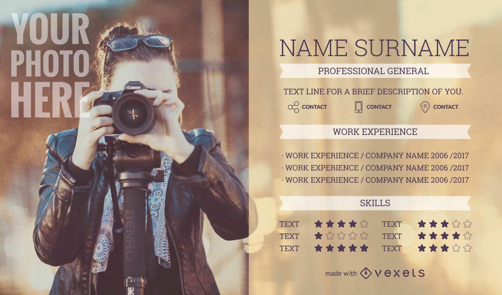 CV de currículum de diseñador gráfico - Descargar vector