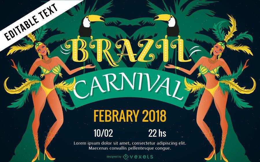 Brazilian carnival poster design