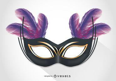 Ilustración de máscara de carnaval de Venecia