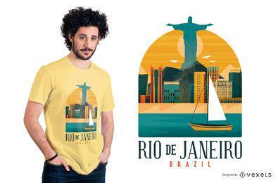 Diseño de camiseta de rio de janeiro