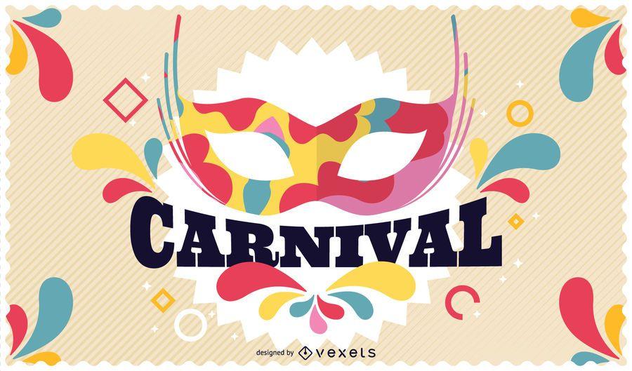 Cartaz de festa de carnaval colorido