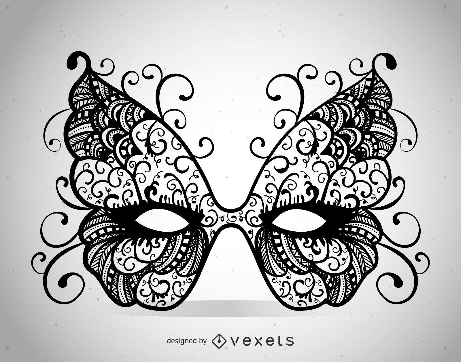 Swirly Venice carnival mask