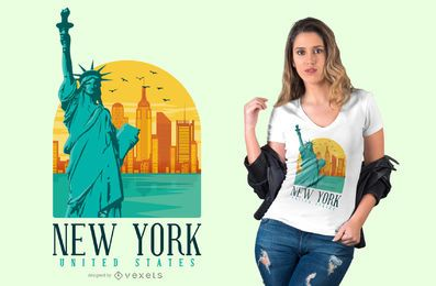 Projeto do t-shirt de New York City