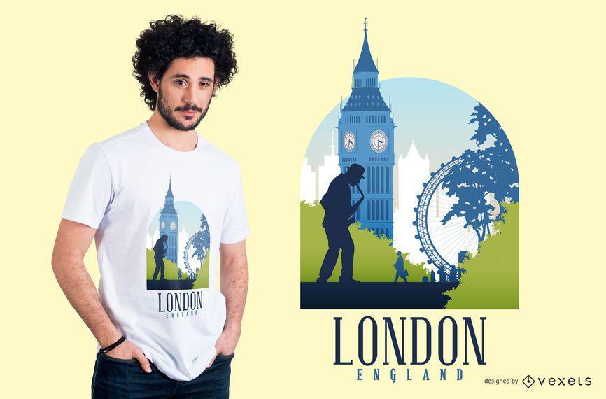 Diseño de camiseta de Londres Inglaterra