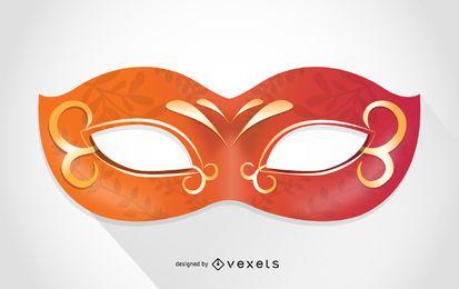 Orange Venice carnival mask