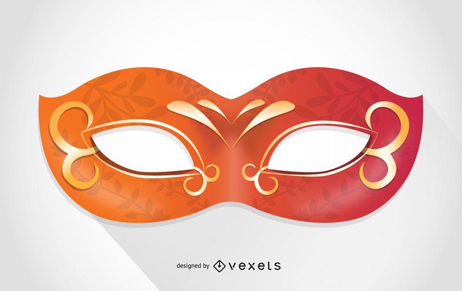 Máscara de carnaval de Venecia naranja