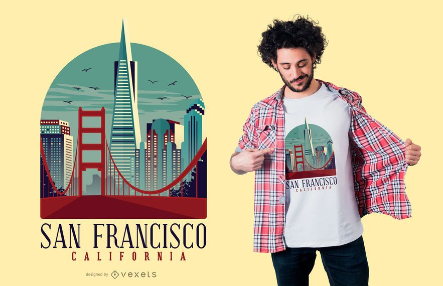 San Francisco California t-shirt design