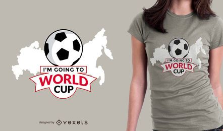 Going to Russia 2018 t-shirt design