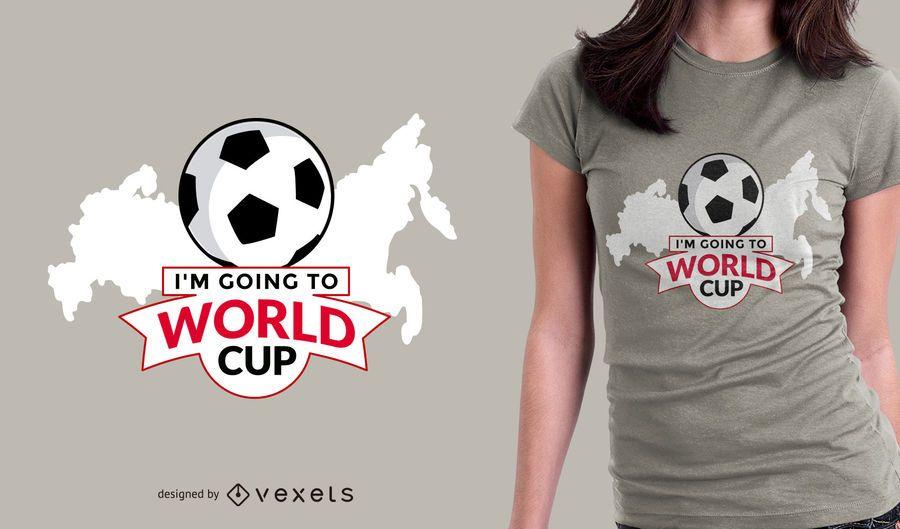 Ir a Rusia diseño de camiseta